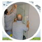 installation de porte de douche